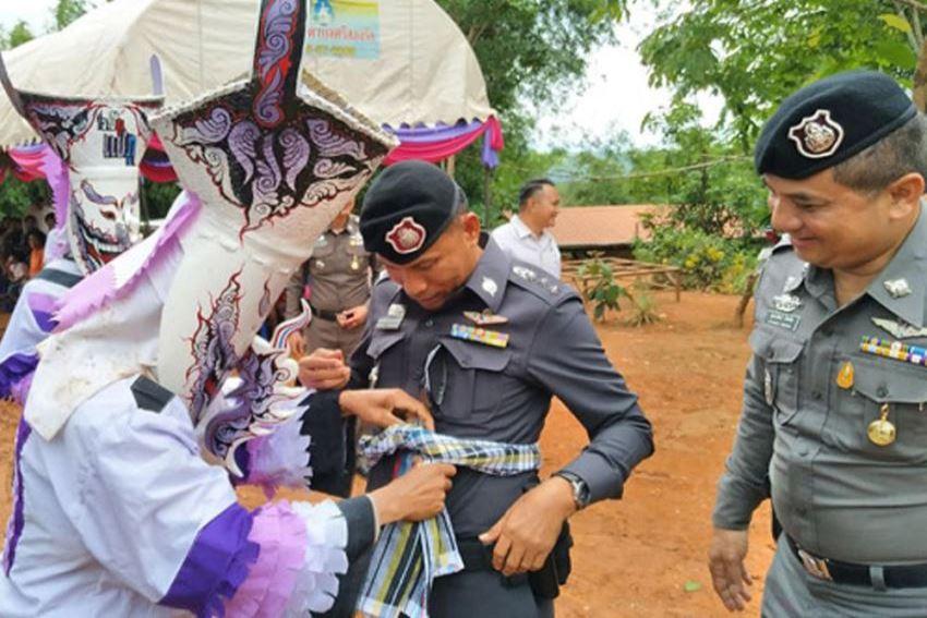 ตำรวจภูธรภาค4ตรวจงานประเมินผลอำเภอด่านซ้าย