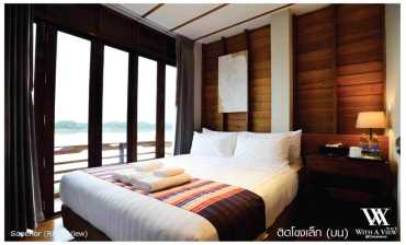 ห้องติดโขงเล็ก (บน) วิท อะ วิว(With A View Hotel)