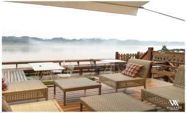 บรรยากาศริมโขง วิท อะ วิว(With A View Hotel)