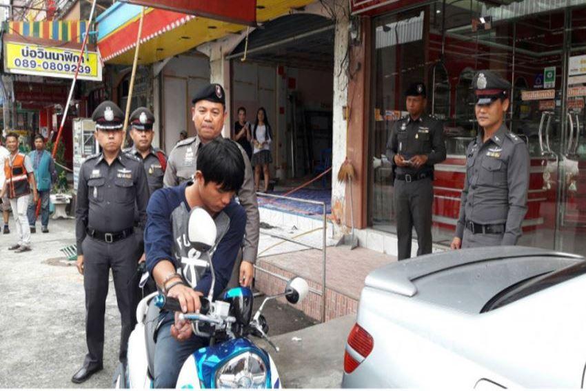 รวบคนร้ายกระชากสร้อย2บาทจากเจ้าของร้านทองที่บ่อวิน