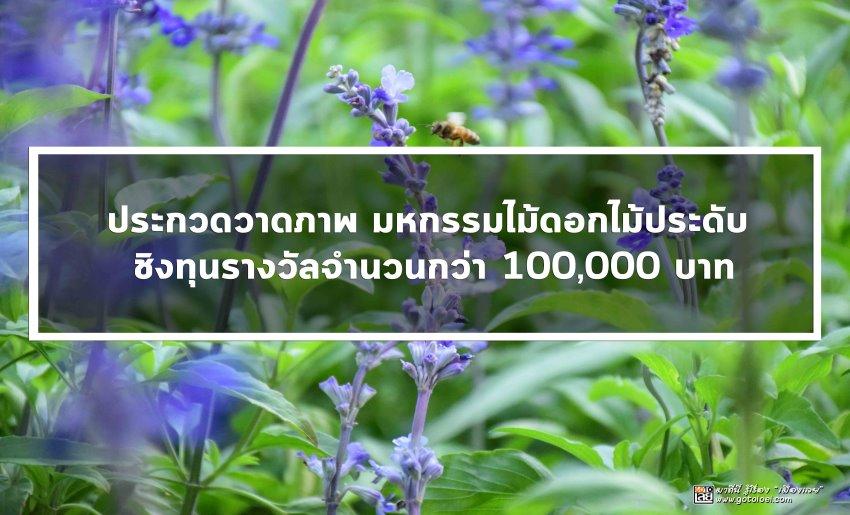 ประกวดวาดภาพมหกรรมไม้ดอกไม้ประดับชิงทุนรางวัลจำนวนกว่า100,000บาท