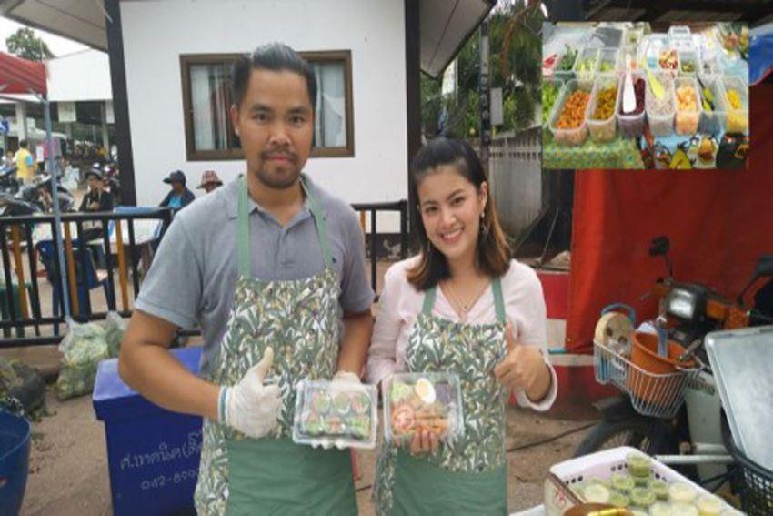 สองคู่รักจบเกษตรขายสลัดผักเพื่อสุขภาพขายดีจนต้องสั่งจองคิว