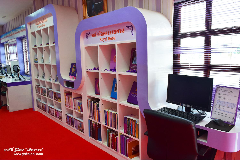 เครื่องสืบค้นหนังสือ ห้องสมุดประชาชนเฉลิมราชกุมารีจังหวัดเลย
