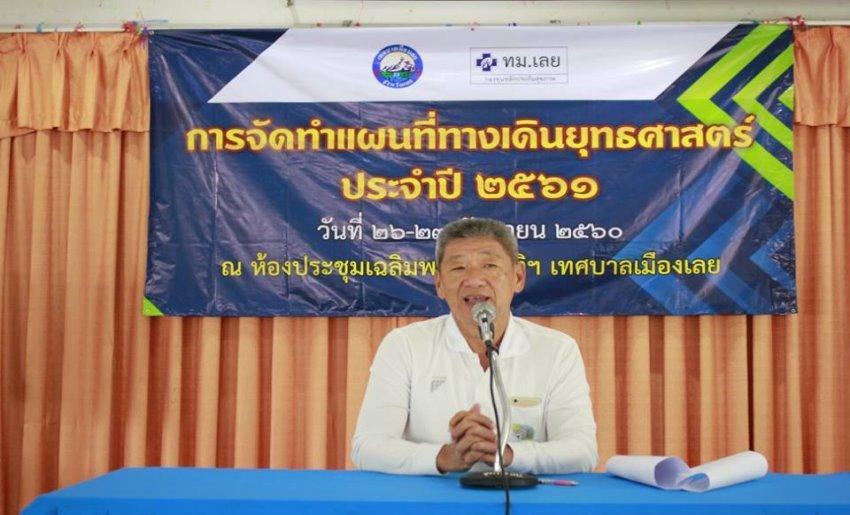ประชุมการจัดทำแผนที่ทางเดินยุทธศาสตร์ประจำปี2561ของกองทุนหลักประกันสุขภาพเทศบาลเมืองเลย