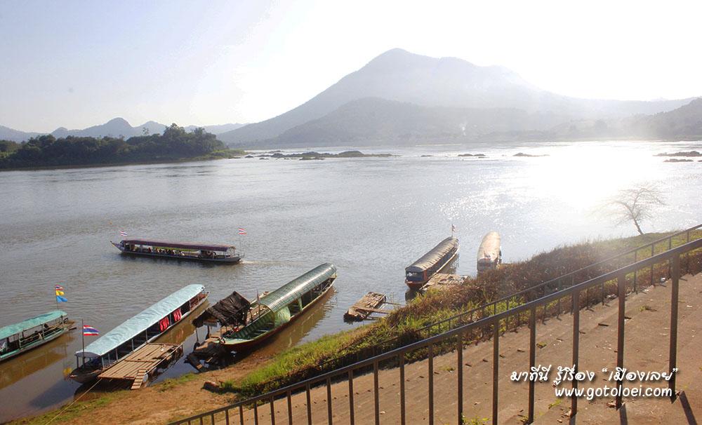 บริการล่องเรือชมแม่น้ำโขงที่แก่งคุดคู้